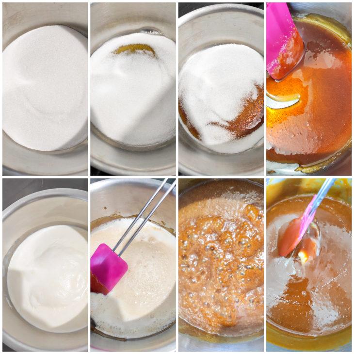 étape recette caramel beurre salé