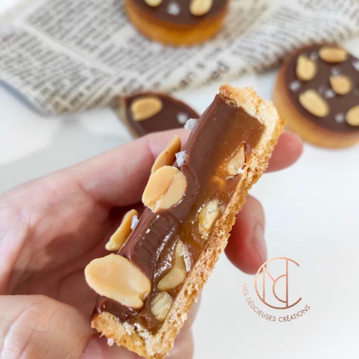 dégustation tarte snickers