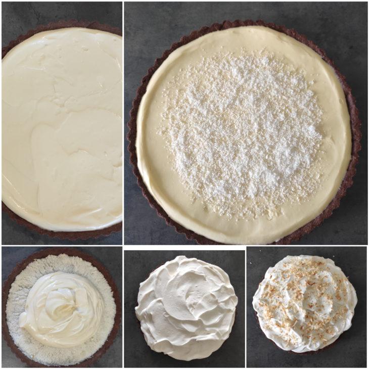 montage tarte nuage coco