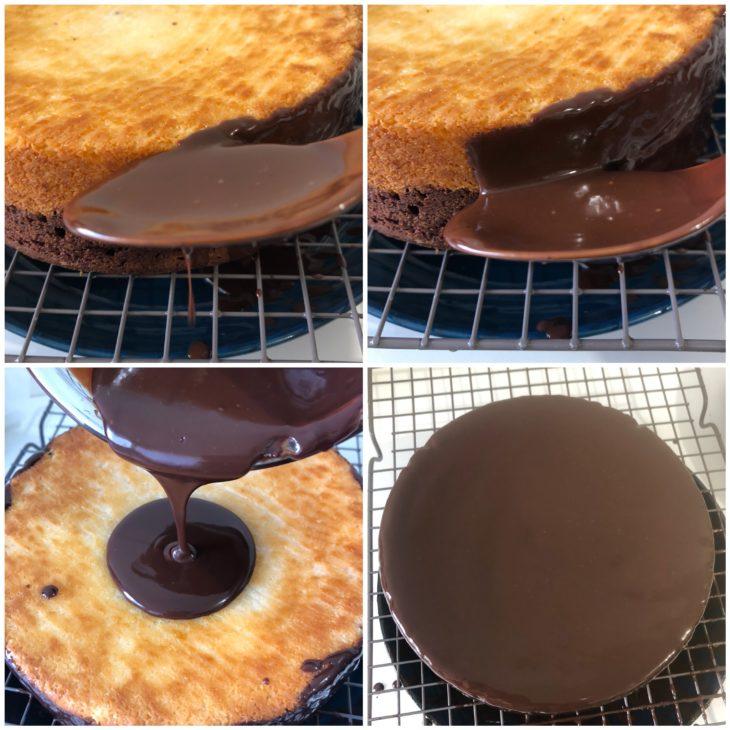 glaçage gâteau choco-coco