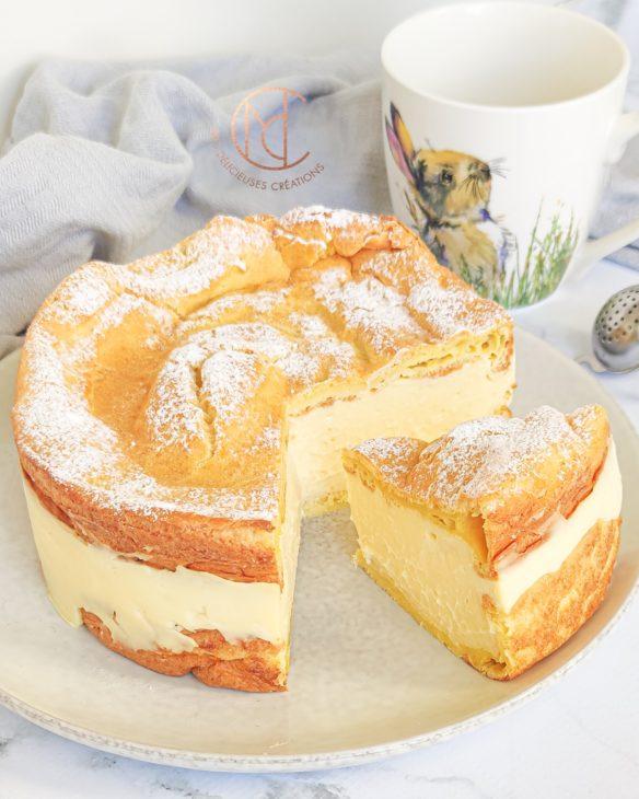gâteau cœur de crème