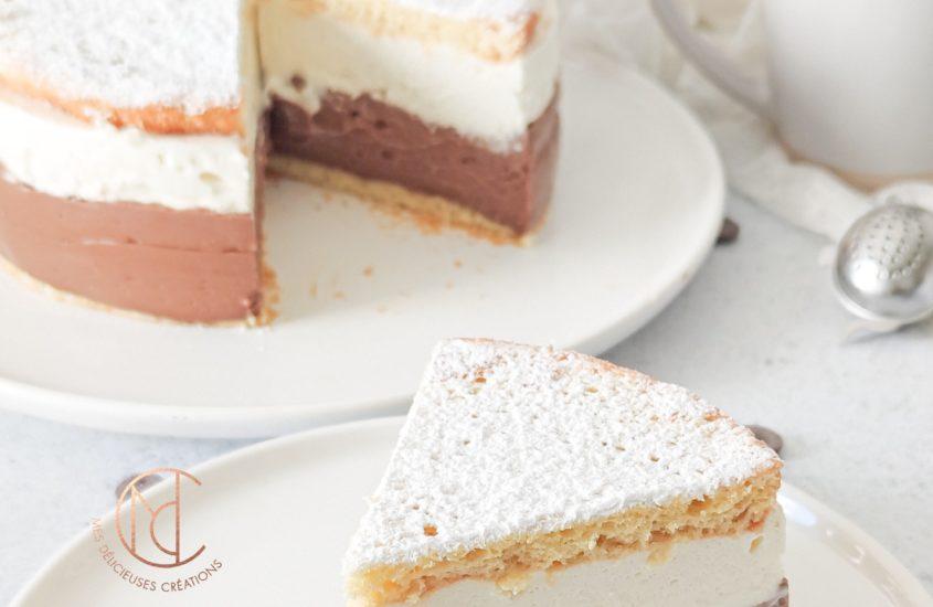 Gâteau coeur de crème au chocolat