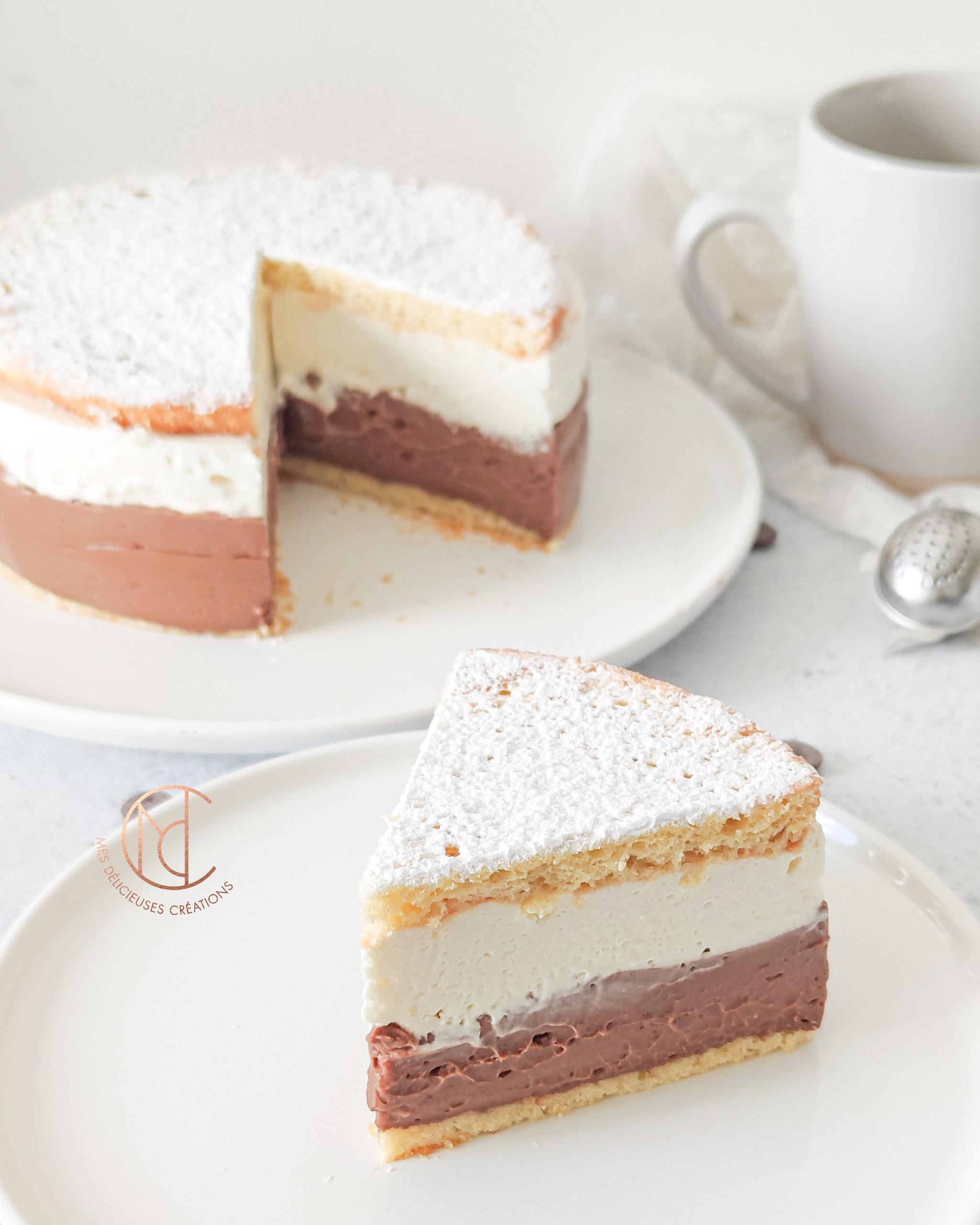 gâteau coeur crème chocolat