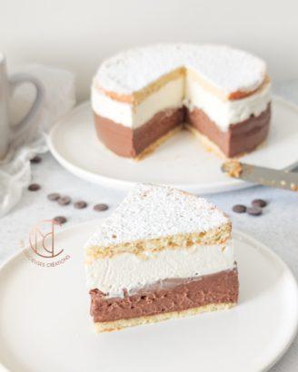 part gâteau coeur de crème chocolat