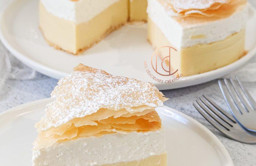 Gâteau coeur de crème coco