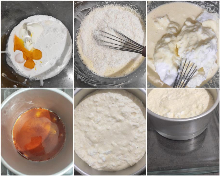 réalisation gâteau renversé coco