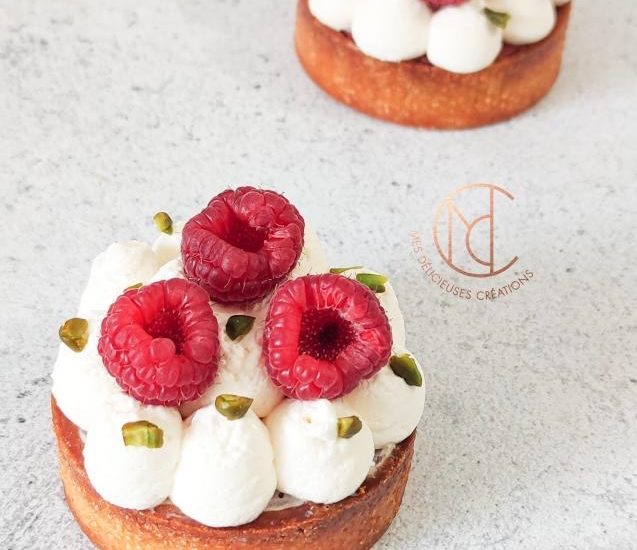 Tarte pistache framboise inspiration fraise