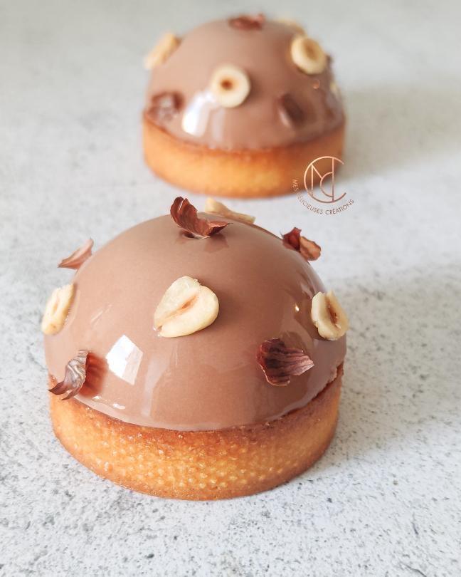 tartelette chocolat coulant praliné