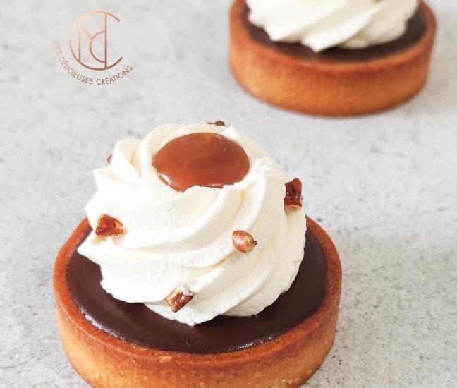 Tartelette chocolat et caramel noix de pécan