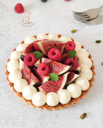 tarte framboise figue pistache