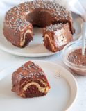 gâteau marbré soupe chocolat