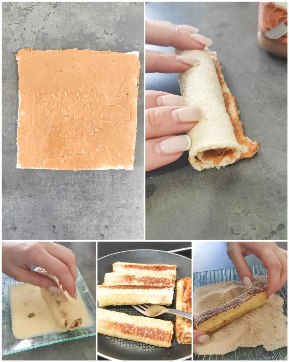 étapes roulés façon pain perdu et Spéculoos