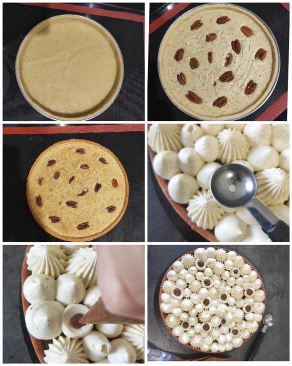 réalisation tarte vanille noix pécan