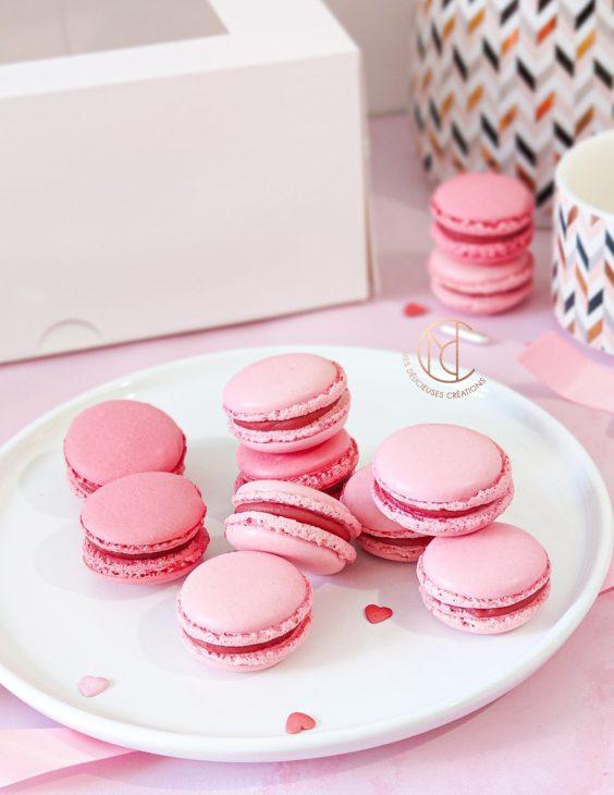 macarons inspiration fraise