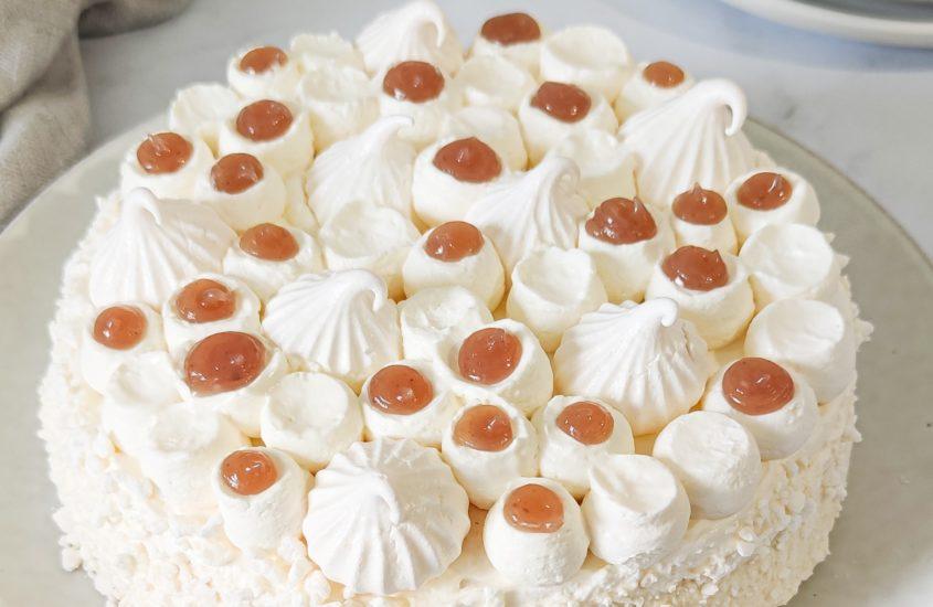 Gâteau façon montblanc