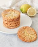 Cookies craquelés au citron