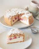 Gâteau sans cuisson framboise vanille